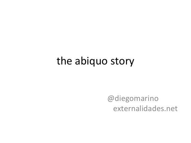 the abiquo story @diegomarino externalidades.net