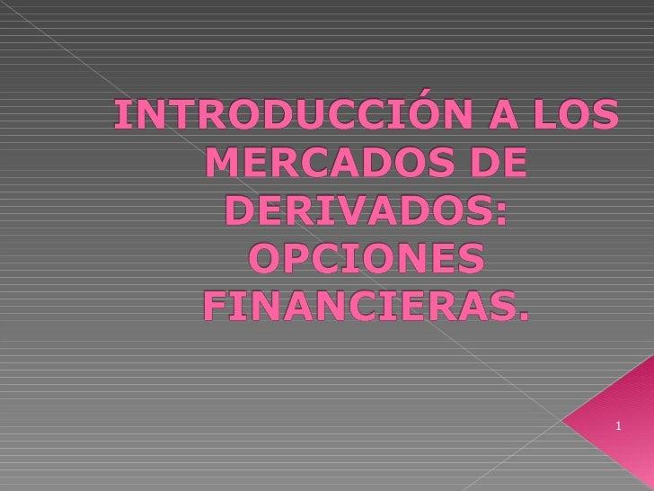 Introducción a las Opciones Financieras