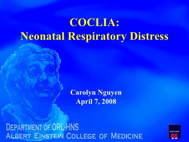Ef73 Coclia 86 Neonatal Respiratory Distress