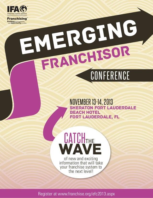 2013 IFA Emerging Franchisor Conference