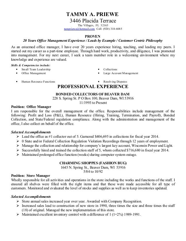 resumes by tammy