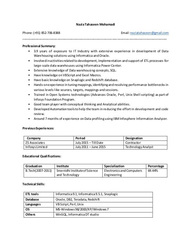 Sample resume ssrs developer