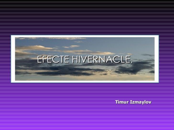 EFECTE HIVERNACLE. Timur Izmaylov