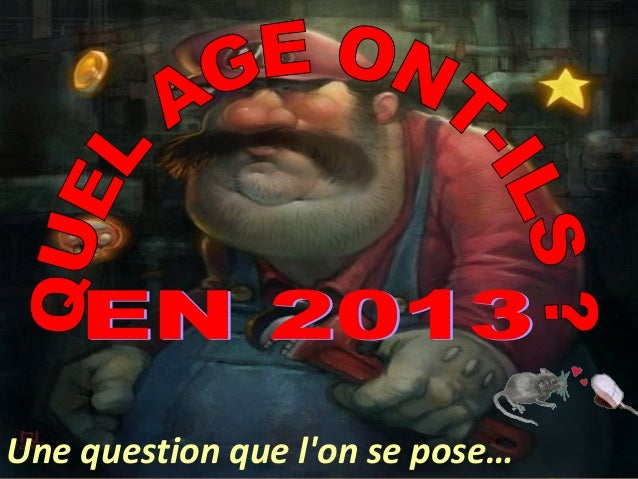 Une question que l'on se pose…