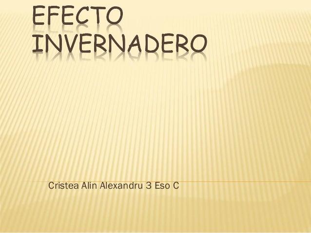 Cristea Alin Alexandru 3 Eso C