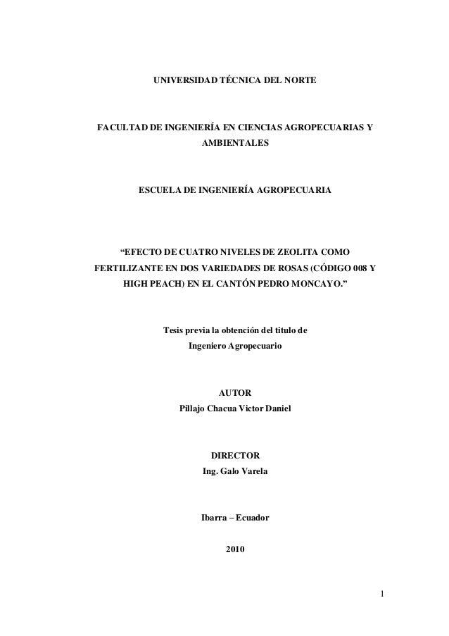 1  UNIVERSIDAD TÉCNICA DEL NORTE  FACULTAD DE INGENIERÍA EN CIENCIAS AGROPECUARIAS Y AMBIENTALES  ESCUELA DE INGENIERÍA AG...