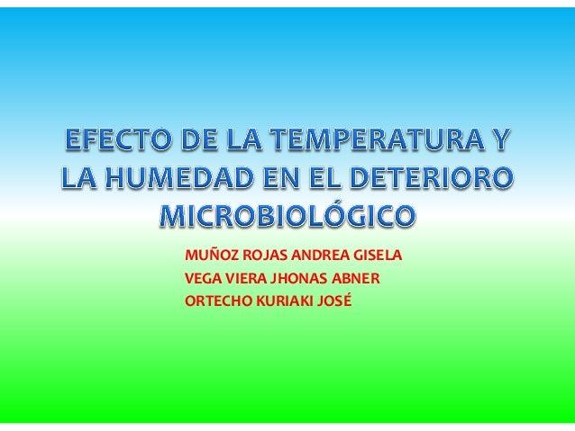 Efecto de la temperatura y la humedad en el deterioro microbiológic oo
