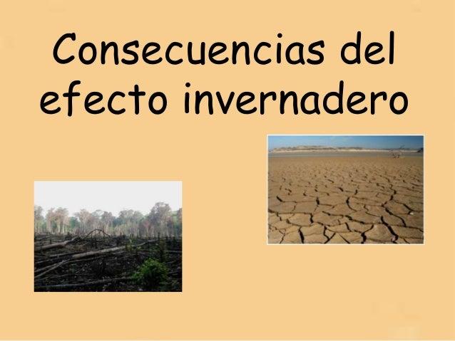 Efecto Invernadero Consecuencias Consecuencias Del Efecto