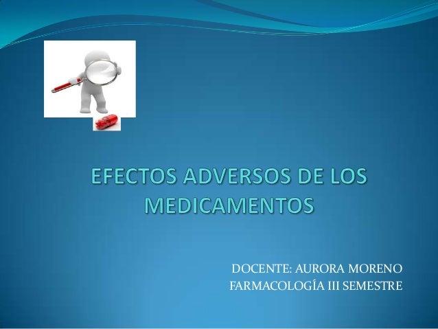 Efectos adversos de medicamentos