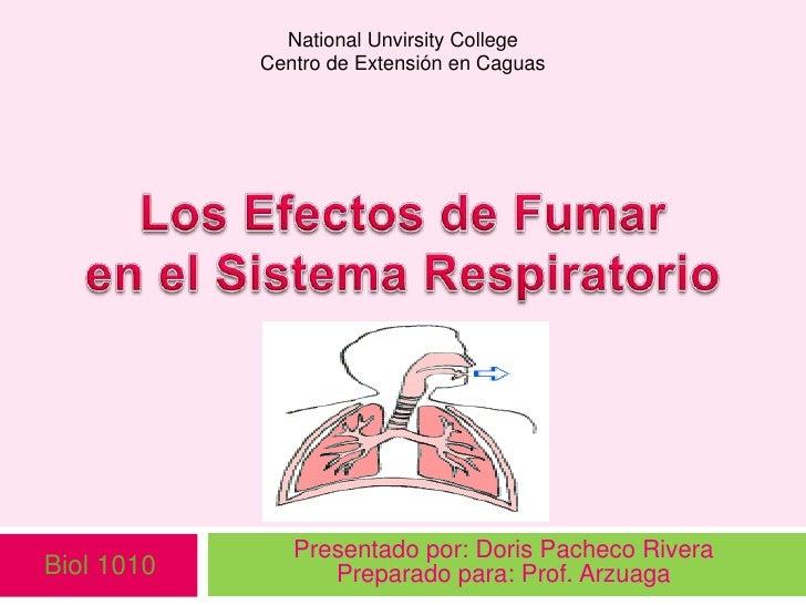 Efectos de fumar en el sistema respiratorio