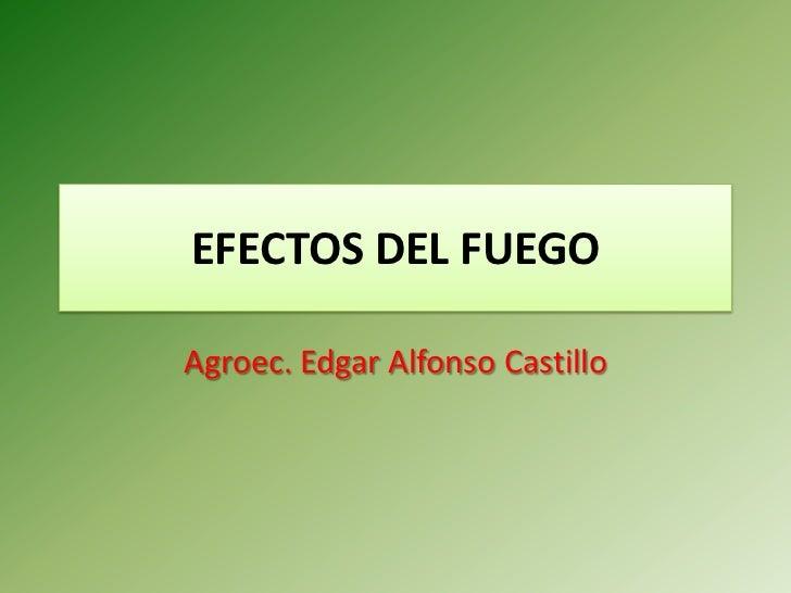 Efectos Del Fuego