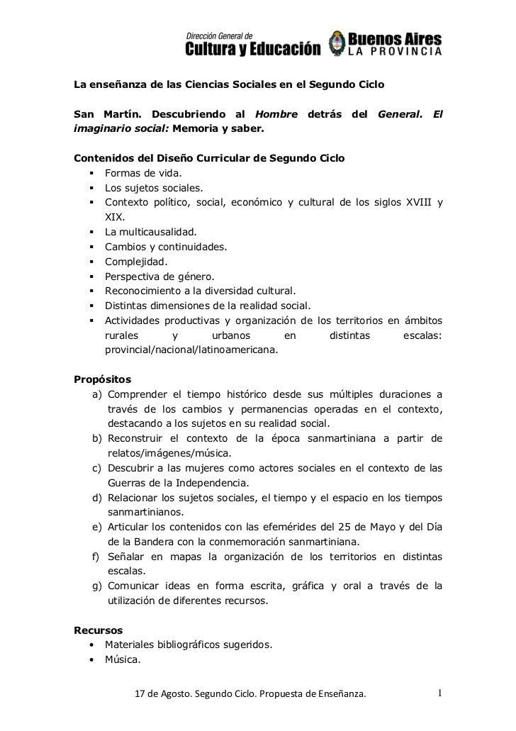 La enseñanza de las Ciencias Sociales en el Segundo CicloSan   Martín.    Descubriendo      al   Hombre     detrás    del ...