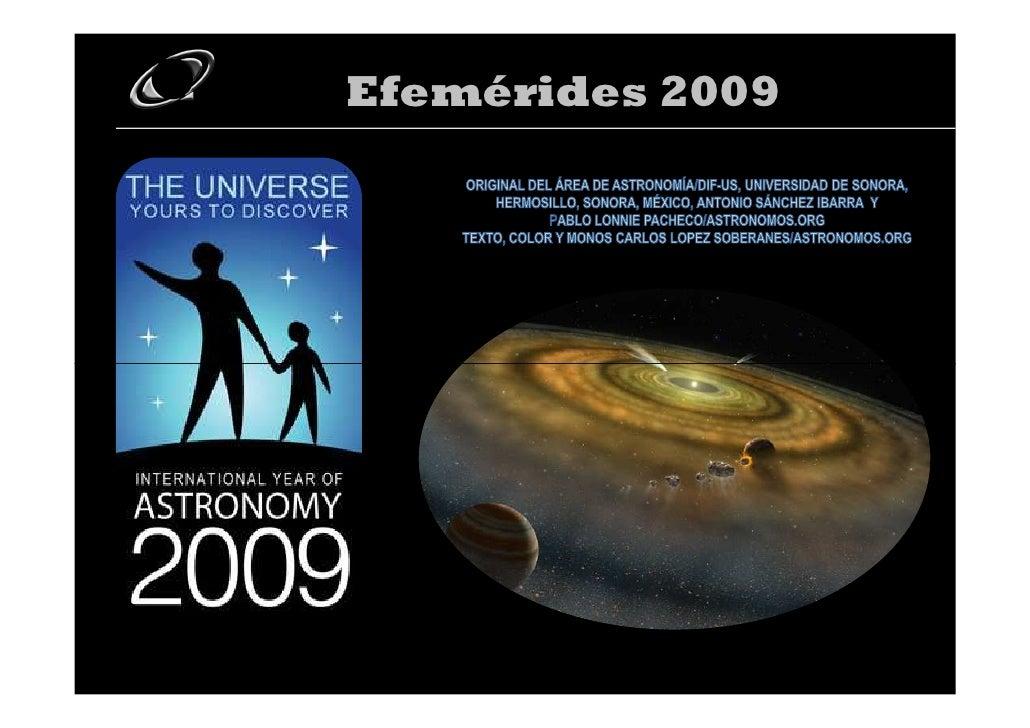 Efemérides 2009