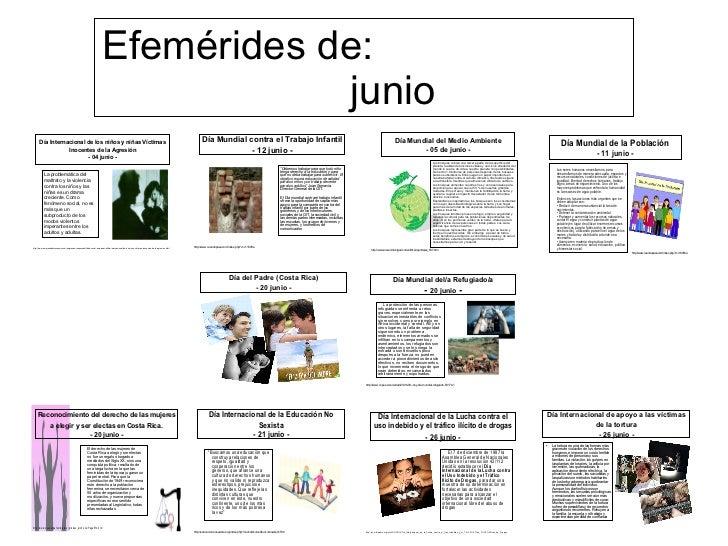 Efemerides Del Mes De Junio En Mexico