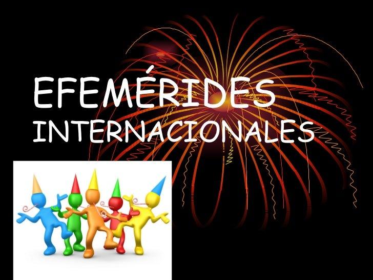 Efemérides internacionales