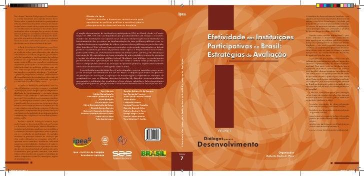 No volume 7 da série Diálogos para o Desenvolvimen-                   Missão do Ipea                                      ...