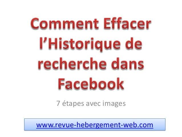Effacer l'historique de recherche dans Facebook