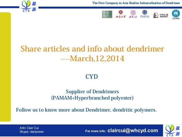 Effect application of dendrimer,pamam, hyperbranched polymer