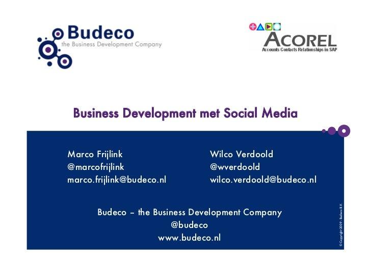 Effectief gebruik van Social Media - Acorel Event