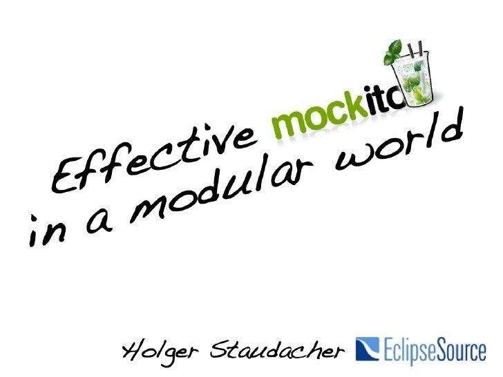 Effectiev Mockito, Eclipsecon 2012