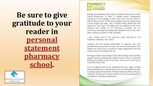 personal statement essay for pharmacy school This essay has been submitted by a student this is not an example of the work written by our professional essay writers pharmacy school personal statement example.