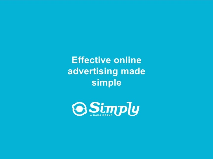 Effective advertising made simple