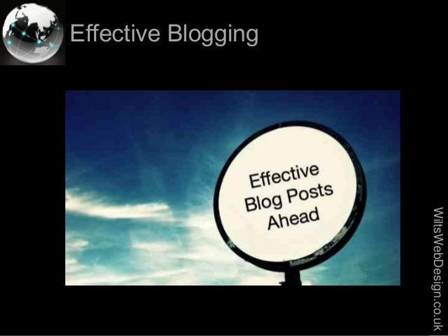 Effective blogging-2013