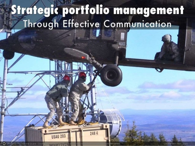 Effective communication in strategic portfolio management
