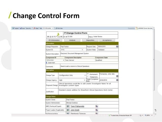 Change management form template 28 images change for Documents for change management