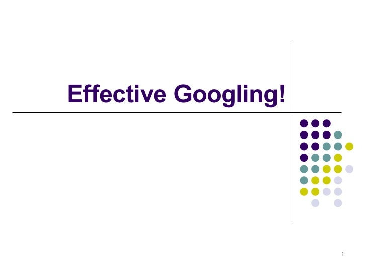 Effective Googling