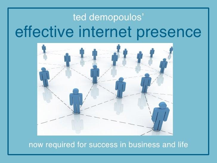 Effective internet-presence