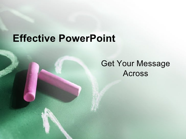 Effective Power Point