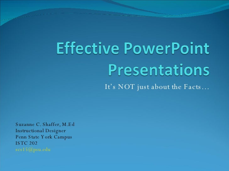 Effective Power Point Presentations