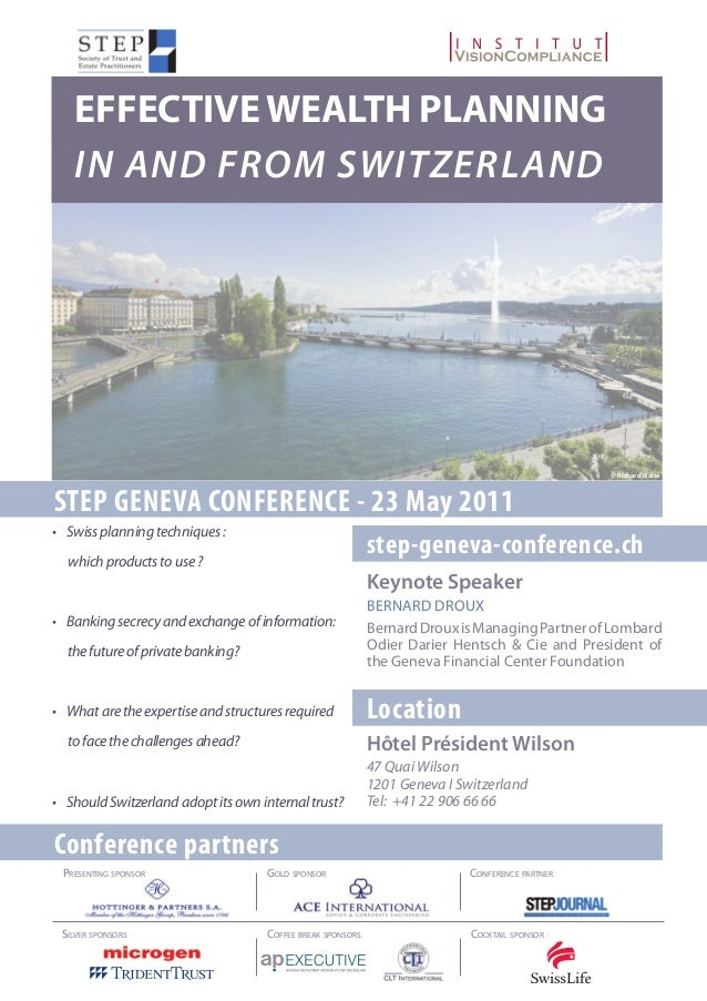 Effective wealth planning in and from Switzerland