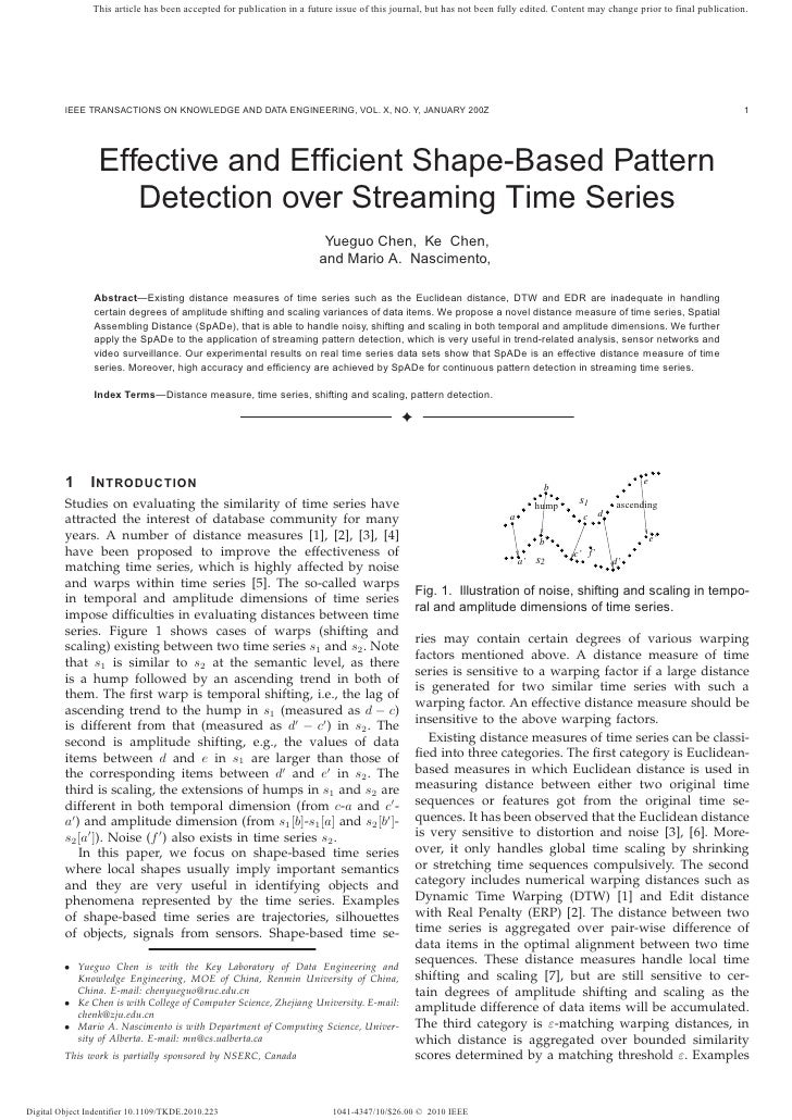 Effective and Efficient Shape-Based Pattern Detection over Streaming Time Series