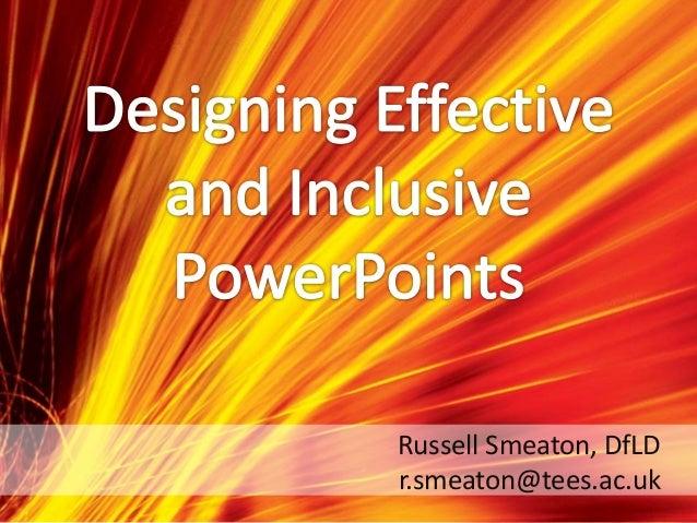 Russell Smeaton, DfLD r.smeaton@tees.ac.uk