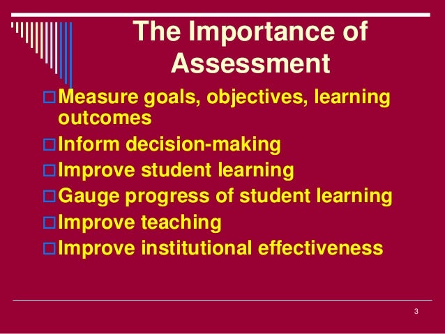 course assessment practices and student learning This report presents an overview of some best practices in student learning assessment and should be  measures of student learning can be course.