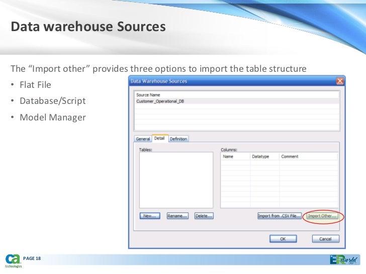Effective capture of metadata using ca e rwin data modeler 09232010