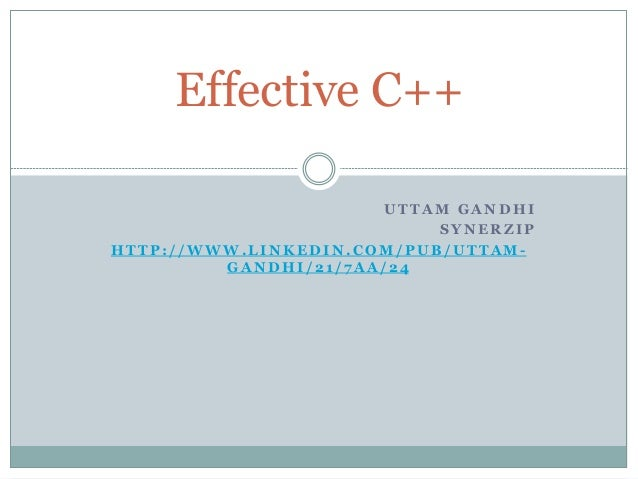 Effective c++notes