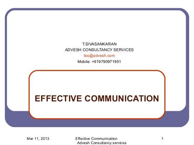 Effective communication -Training Module