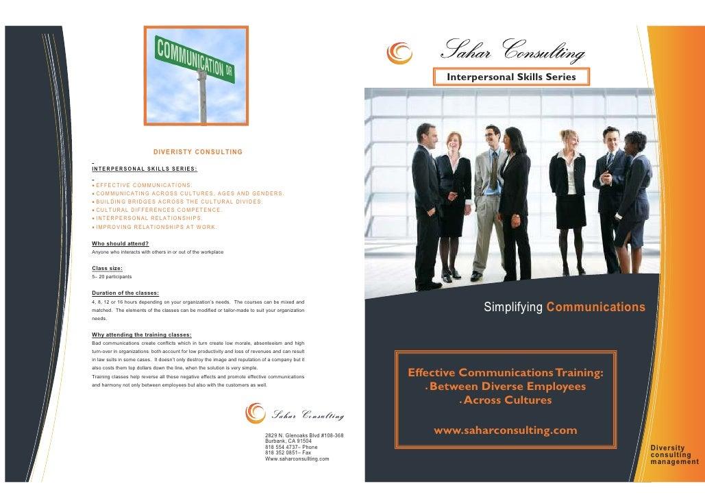 Effective communication course brochure