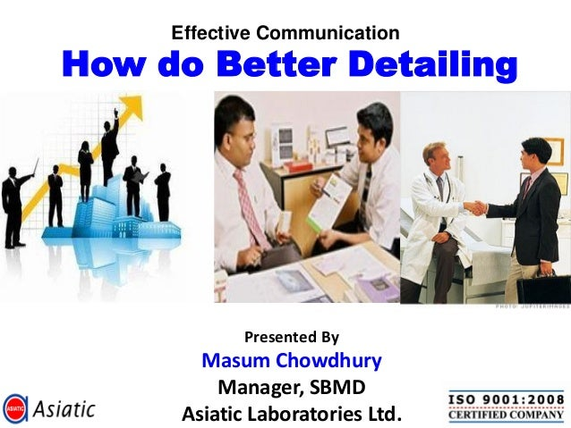 Effective communication – how do better detailing