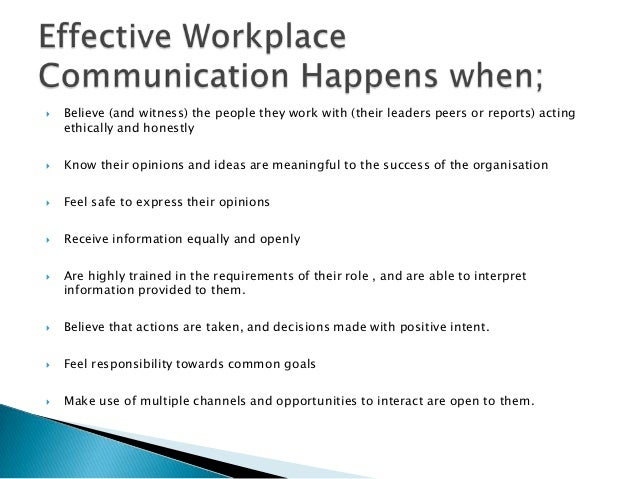 essay effective communication in the workplace Essay on effective communication in the workplace introduction- workplace  communication essay why is communication important in the workplace effective.