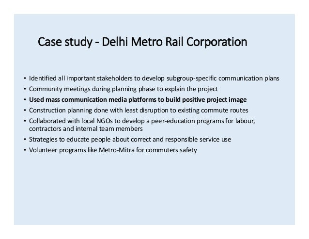 Project management (a case study of Delhi metro project ...