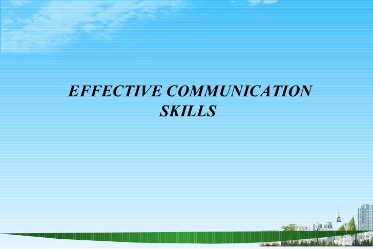 Communication skill ppt slides