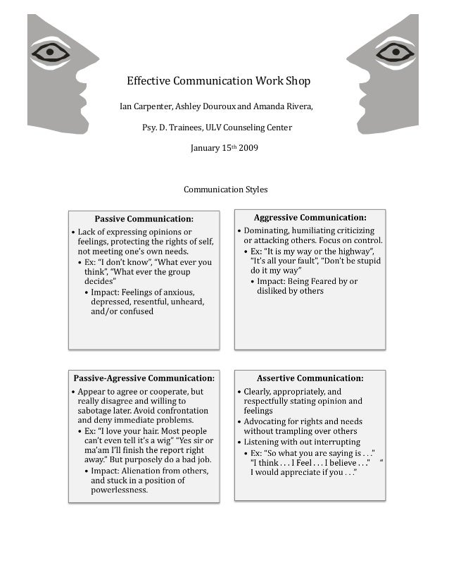 essays on effective communication