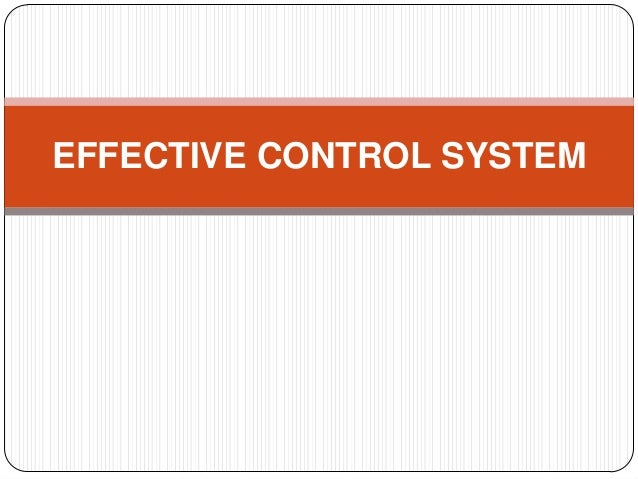 Effective control system