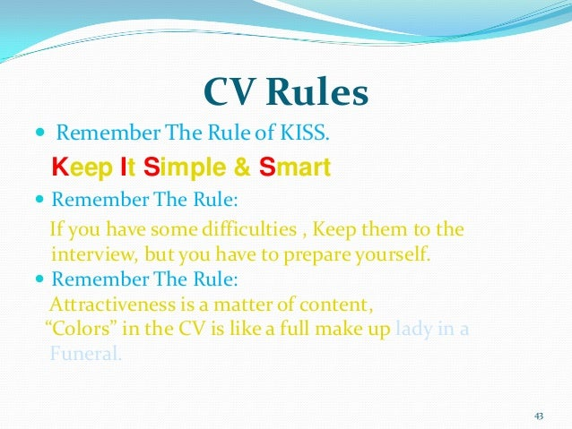 resume rules cover letter