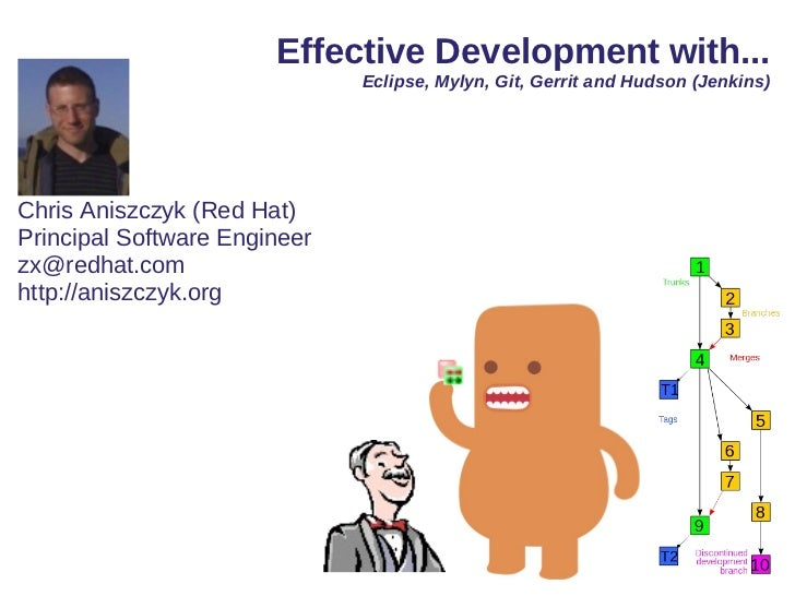 Effective Development with...                              Eclipse, Mylyn, Git, Gerrit and Hudson (Jenkins)Chris Aniszczyk...