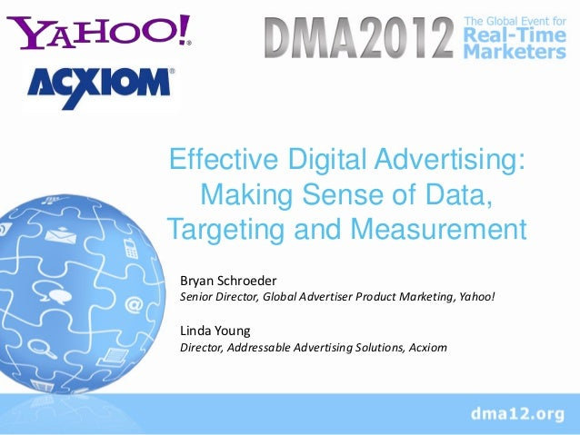 Effective Digital Advertising: Making Sense Of Data, Targeting & Measurement